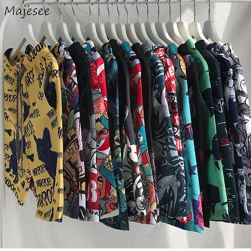 Men Shorts Printed Summer Plus Size 4XL