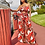 Thumbnail: Bohemian Palm Print Lace Up Jumpsuits&Rompers Off Shoulder Plus Size