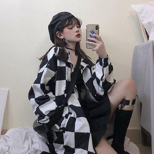 Summer Korean Hip-Hop Long Sleeve Hooded Jacket