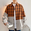 Thumbnail: Men Plaid Patchwork Long Sleeve Shirt