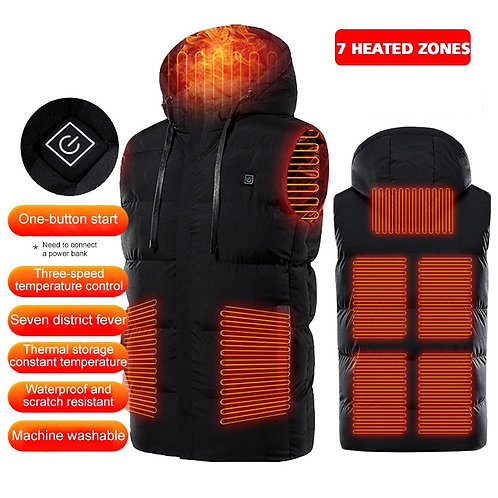 PARATAGO Winter Heating Vest Warm Heated Smart Jacket Graphene