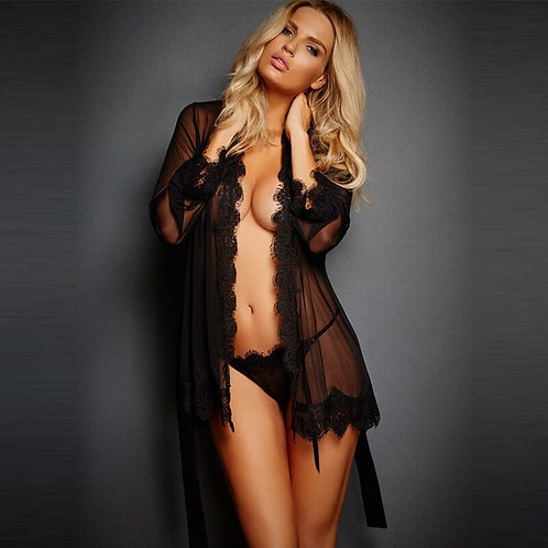 Babydoll Erotic Transparent Dress Black Sexy Lingerie