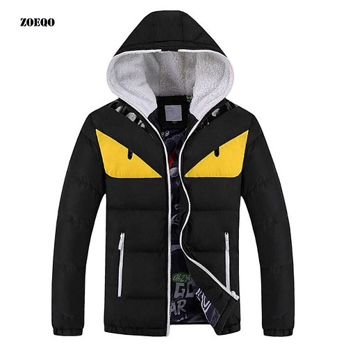 New Fashion Winter Jacket Men Warm Cotton Padded Plus Size Mens Hooded Jackets
