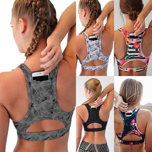 Workout Tank Top Gym Yoga Bra Women Breathable Running Workout Sport Bra