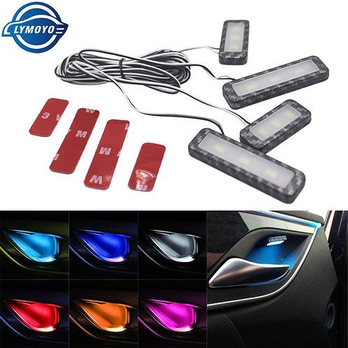 4Pc LED Ambient Light Car Inner Bowl Light Interior