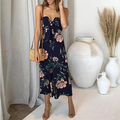 Sexy Jumpsuits Floral Print Long Bodysuits Women Rompers
