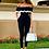 Thumbnail: Women Off Shoulder Colorblock Ruffles Bodycon Jumpsuit