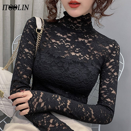 Women's Blouses Top  With Long Sleeve Luxury Winter Autumn