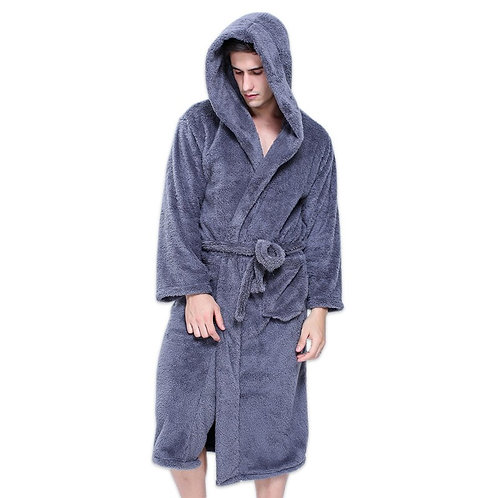 Hooded Robes Bathrobes for Male