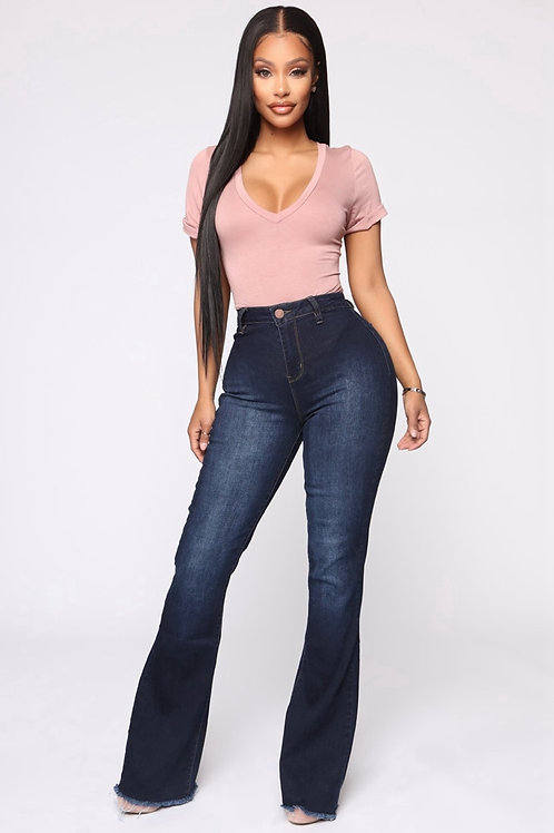 High Waist Flare Jeans Denim Skinny Jeans Mom Wide Leg Plus Size
