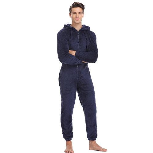 Men Plush Teddy Fleece Pajamas Set