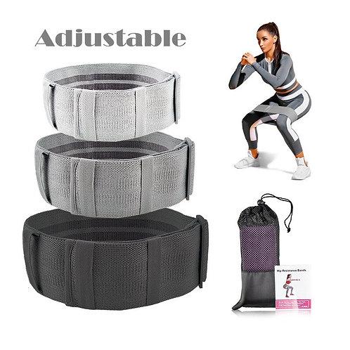 Adjustable Hip Resistance Bands Cotton for Fitness Squat Workout