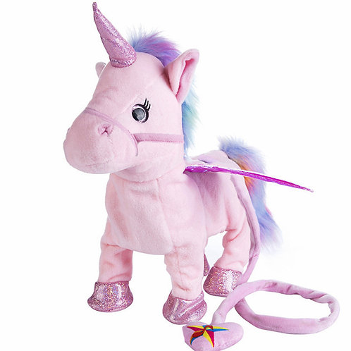 VIP 35cm Singing and Walking Unicorn Electronic Plush Robot Animal Toy For Kids