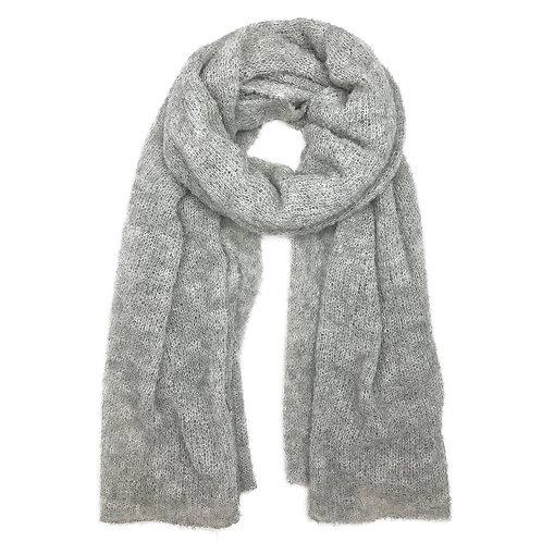 Gray Ultra Plush Alpaca Scarf