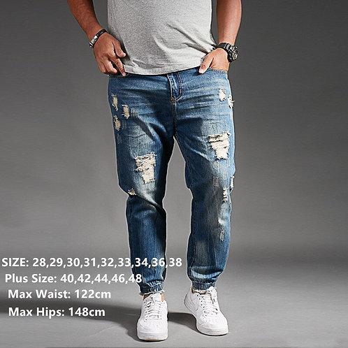 Ripped Jeans for Men Denim Harem Hip Hop Plus Size Trousers Men Jogger Pants