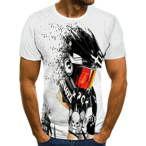Racing Suit 3D Printed Motorcycle T-Shirt for Men Summer Fashion T-Shirt