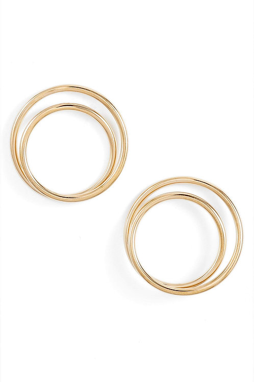 Double Inset Hoop Earrings | More Colors Available