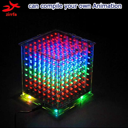 Diy Electronic  3D Multicolor Led Light Cube Kit With Gift Led Display Diy Kit