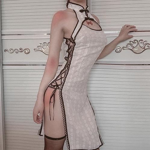 Party Dresses Uniform Velour Print Sexy Split Bandage