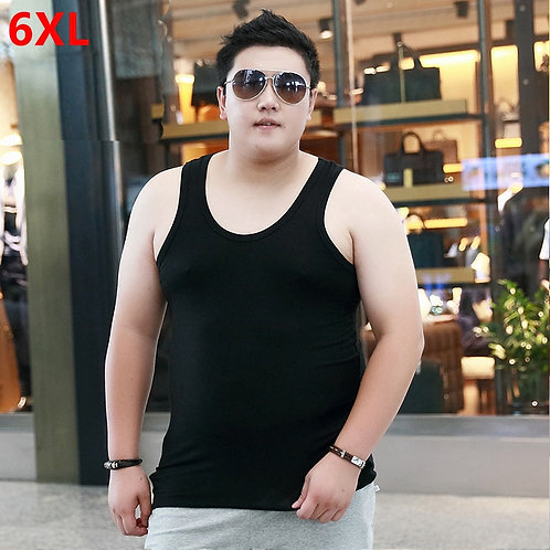Men's Large Size High-Stretch Sleeveless Tops Plus Oversized Tank Tops