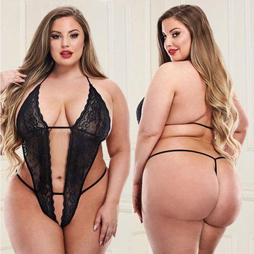 Women Girl Lace Underwear Plus Size Lingerie Corset One Piece Pajamas Woman 5XL