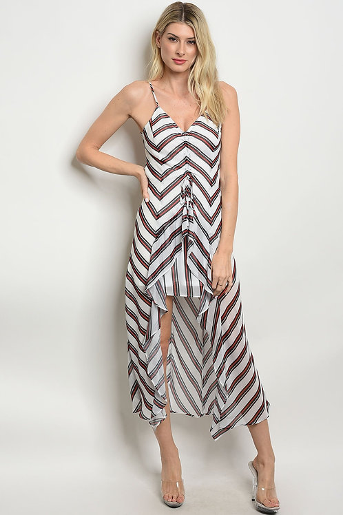 Womens Stripes Print Dress