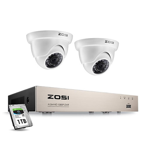 ZOSI 1080P CCTV Camera System 4CH 1080P DVR System With 2x Outdoor
