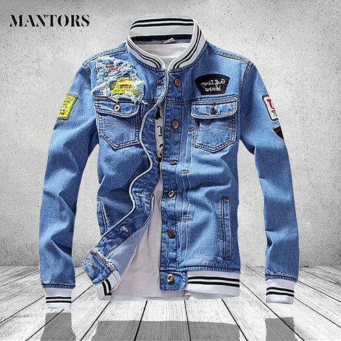 Fashion Denim Jacket Men Spring Casual Men's Slim Fit Jean Mens Plus Size 5XL