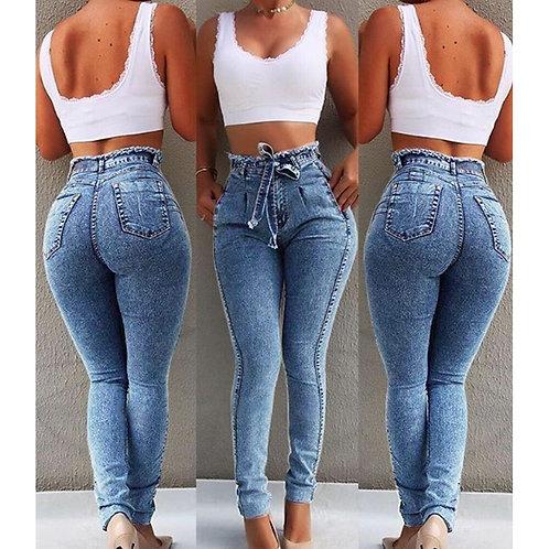 High Waist Jeans for Women Slim Stretch Denim Jean Skinny Push Up Jeans