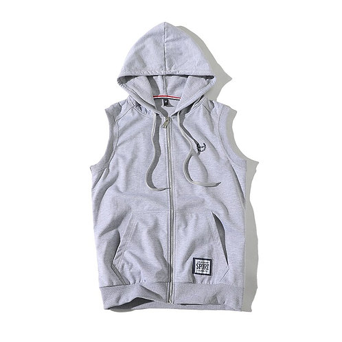 Mens Sleeveless Hoodies Bodybuilding Hooded Sweatshirt Men Fashion Sportswear
