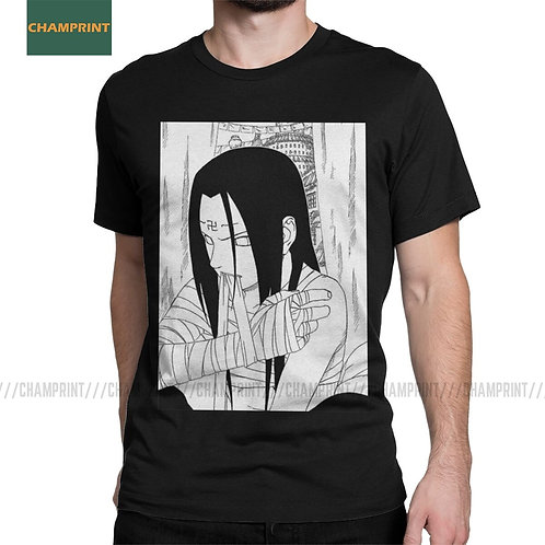 Neji Naruto T Shirts Men's Cotton Humorous T-Shirt Plus Size