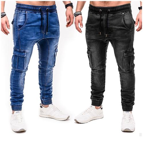 Mens Skinny Jeans Trend Knee Hole Pocket Denim Hip Hop