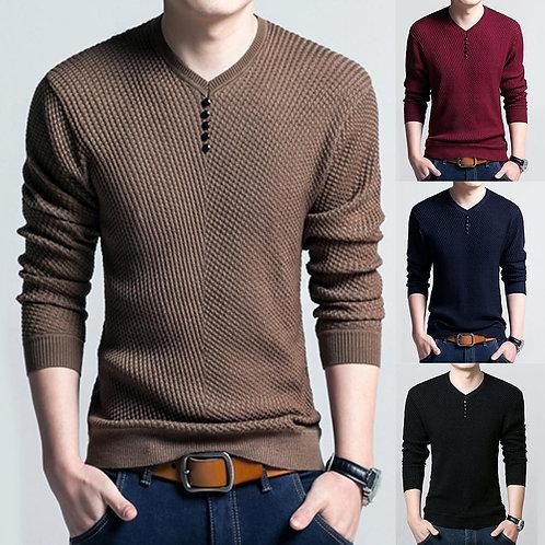 Men Knitted Long Sleeve
