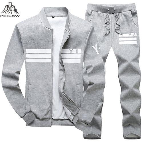 Plus Size 7XL 8XL 9XL Men Sets Sporting Suit 2 Piece Sweatshirt Mens Clothing