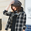 Thumbnail: Stylish Gray Waffle Knit Slouch Beanie