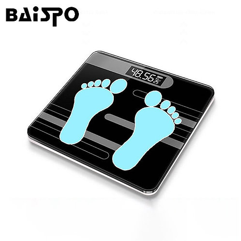 BAISPO Floor Scales Bathroom Scale Electronic Weigh Scale for Body LCD Display