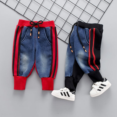 Brand Kids Cartoon Trousers Pant Fashion Girls Jeans Children Boys Hole Jeans