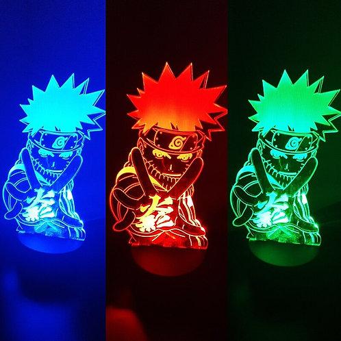NARUTO Gaara Figure Night Light LED Color for Child  Desk Lamp