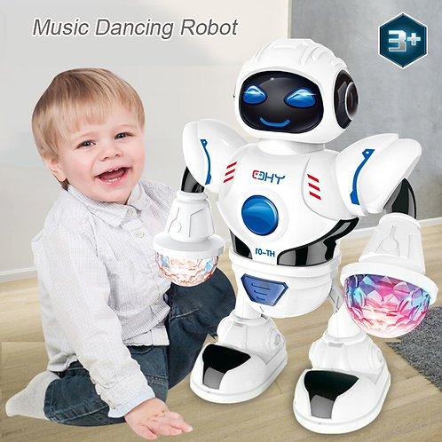 Newest Space Dazzling Music Robot Shiny Educational Toys Electronic