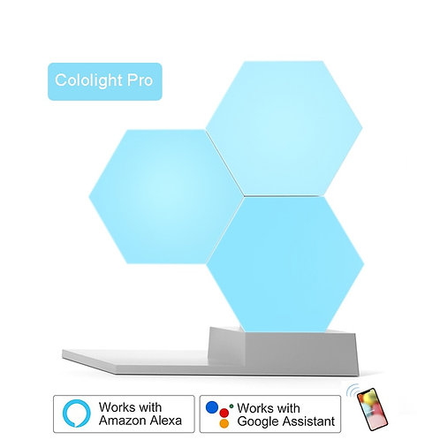 LED Quantum Light Smart Geometry Lamp WiFi Work With Google  Alexa