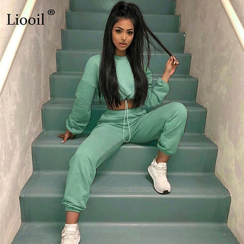 Tracksuit Women's Sports Suit Jogging Femme 2 Pieces Set