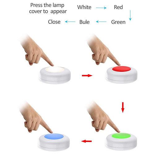Light Battery RGB  Color  Puck Lights