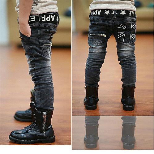 11 Years Old Jeans for Boys Kids Pants Scratch Boys Kids Elastic Jean Pants