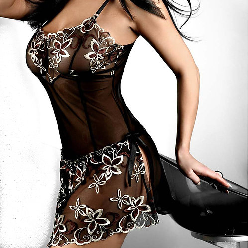 Hot Sexy Full Slips Lace Floral Embroidered Lingerie Sexy Sleepwear Plus Size