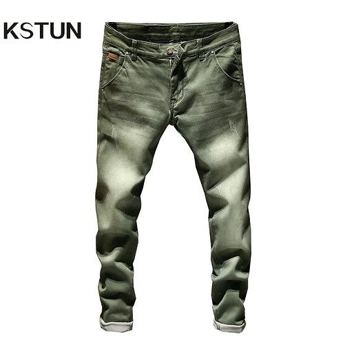 KSTUN Jeans Men Skinny Stretch Mens Jeans Fashion Slim Fit Pants