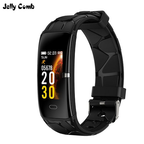Jelly Comb Men Smart Watch Blood Pressure Smart Band Waterproof  Fitness Track