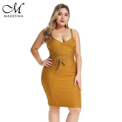Maketina Summer Mini Elegant Sexy Woman Party Club Plus Size