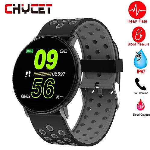 Smart Watch Men Blood Pressure Smart Clock Round Waterproof Smartwatch