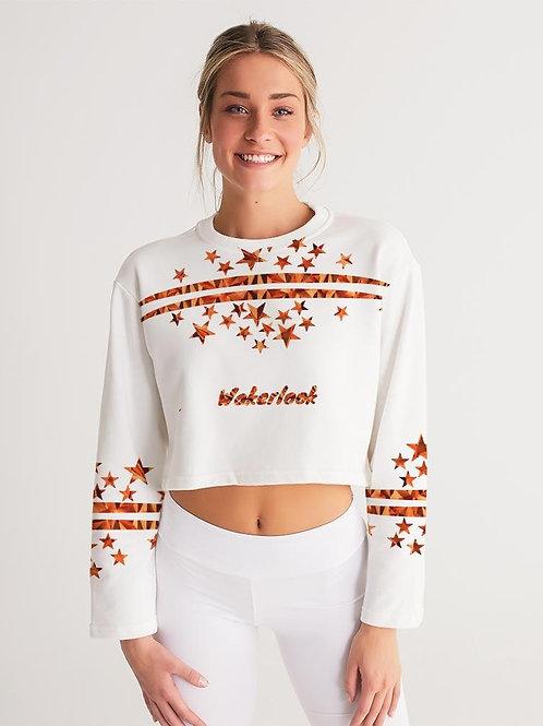 Fashion Women's Wakerlook Cropped Sweatshirt