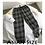 Thumbnail: Men Korean Black Plaid Casual Pants